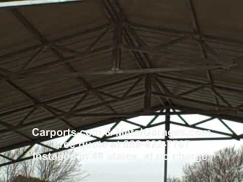 40 Foot Wide Carport Clear Span Structure