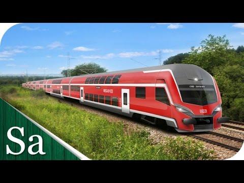 DB Regio train - Regional German Train - Filmed in Munich, Germany (München)
