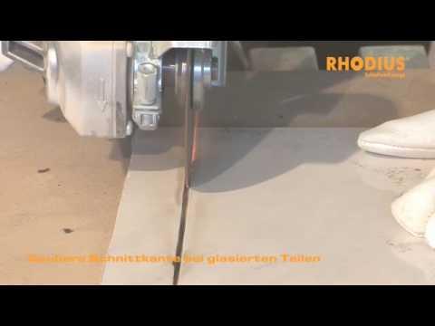 Rhodius Saubere Schnittkante Bei Glasierten Teilen Youtube