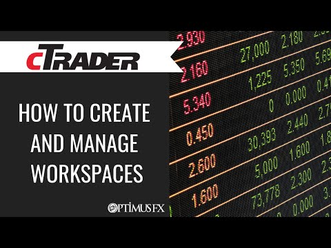 cTrader – How to Create and Manage Workspaces