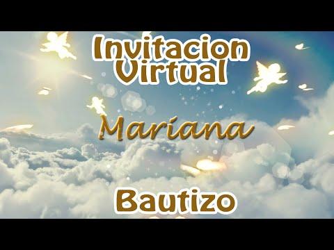 Invitacion en Video - Bautizo Angelitos