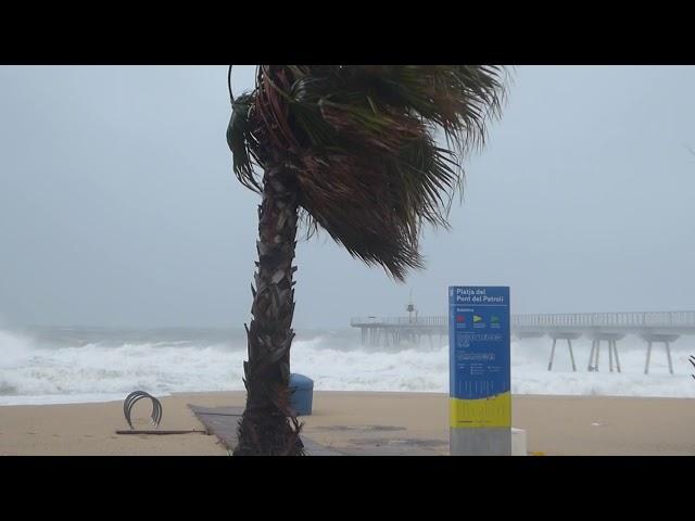 Onades gegants de la depressió Gloria - Badalona - Gener 2020