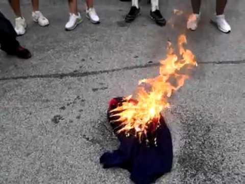 Texans vs Seahawks Matt Schaub Jersey burned