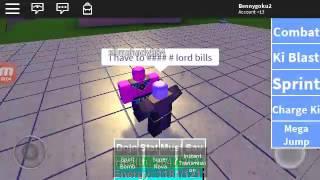 Roblox DBZ RAGE Lord bills VS HIT!!!!