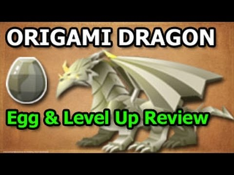 Origami Dragon Dragon City Egg And Level Up Fast Review Youtube