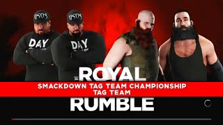 WWE Greatest Royal Rumble 2018 The Bludgeon Brothers vs The Usos for the Smackdown Tag Team Titles
