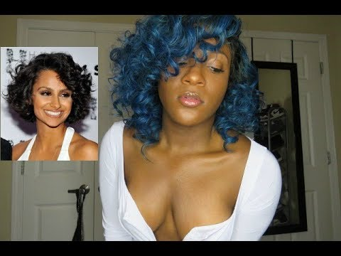 NAZANIN MANDI INSPIRED CURLY BOB LOOK! - YouTube