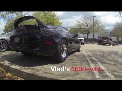 TX2K13 Fire Breathing Supra Vs GTRs, Supras, U0026 EVO X   YouTube