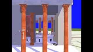 Villa Adriana, Accademia, Tempio di Apollo: ricostruzione 3D