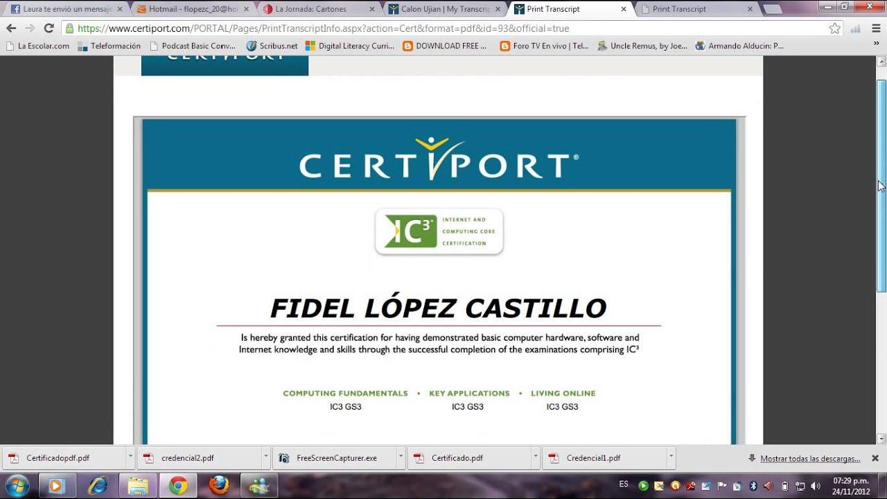 Microsoft Office Trial >> Tutorial impresión de certificado - YouTube