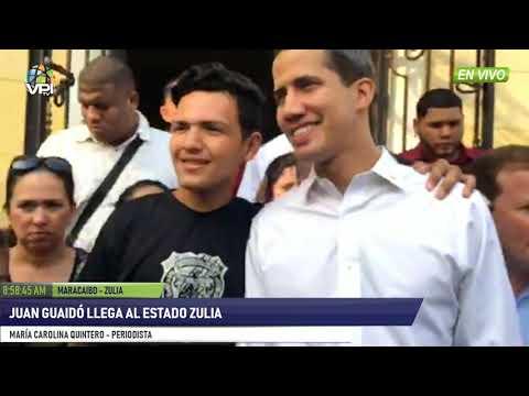 Venezuela- Presidente (E) Juan Guaidó llega al estado Zulia- VPItv