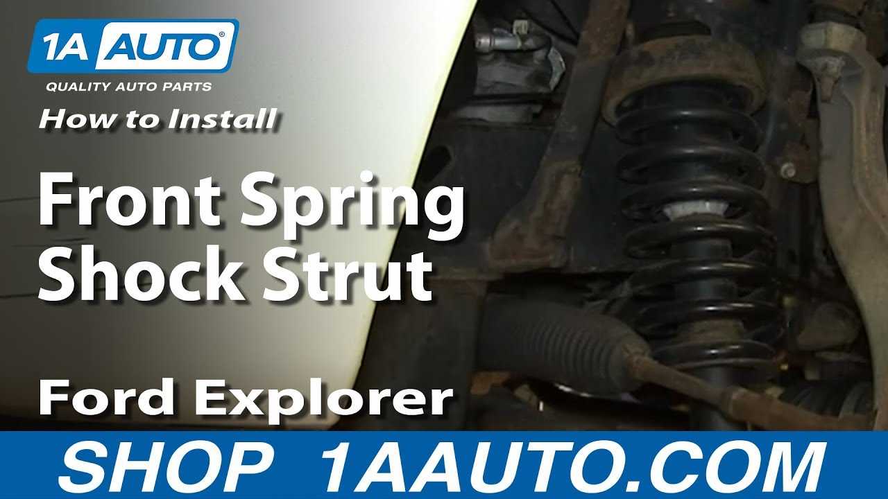 hight resolution of how to replace strut spring assembly 02 03 mercury mountaineer 2003 ford explorer front suspension diagram autos post