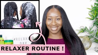 RELAXER ROUTINE: HOW I RELAX MY HAIR | RELAXED HAIR