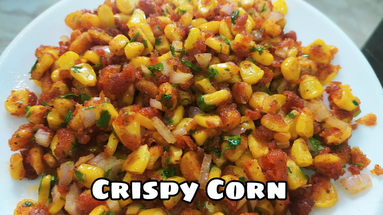 monsoon special Chatpata crispy corn recipe   Corn chaat recipe