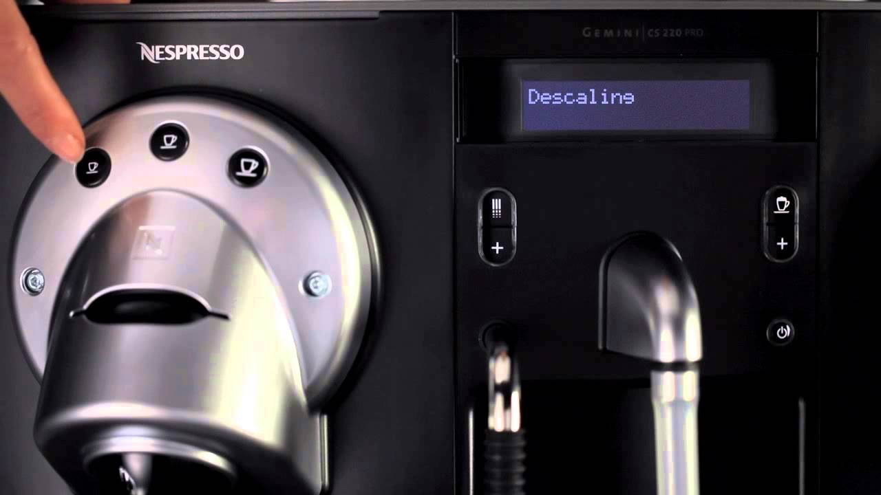 nespresso gemini cs200 cs220 pro how to descaling. Black Bedroom Furniture Sets. Home Design Ideas