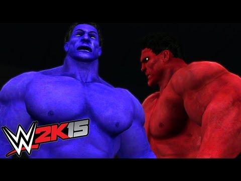 RED HULK VS BLUE HULK - EPIC BATTLE - WWE 2K15