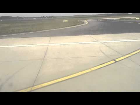 Landing at Budapest Airport (Hungary)
