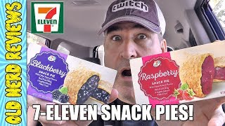 7-Eleven Raspberry & Blackberry Snack Pies REVIEW 🥧