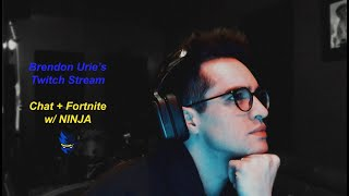 Brendon Urie | Twitch Live Stream || Chat + Fortnite w/ NINJA - 12/28/2018