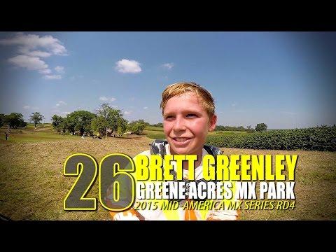 HELMET CAM: Brett Greenley Greene Acres MX MAMS RD4 - Glory Hog Media