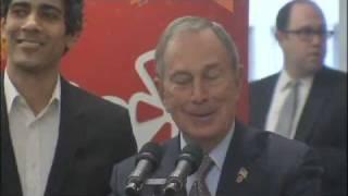 Mayor Bloomberg and Speaker Quinn Help Open Yelp NYC