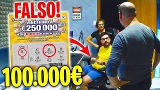 GRATTA E VINCI FALSO!! SCHERZO AI MIEI GENITORI *100.000€ VINTI*