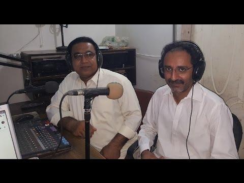 Javaid Shabeer, Versatile Poet Of Sindh @ Hot FM 105 Larkana.