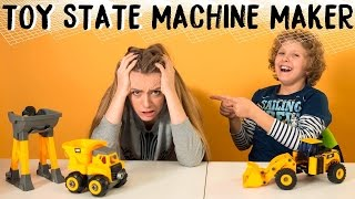 Давид и Ника собирают СУПЕРМАШИНКИ Toy State Machine Maker
