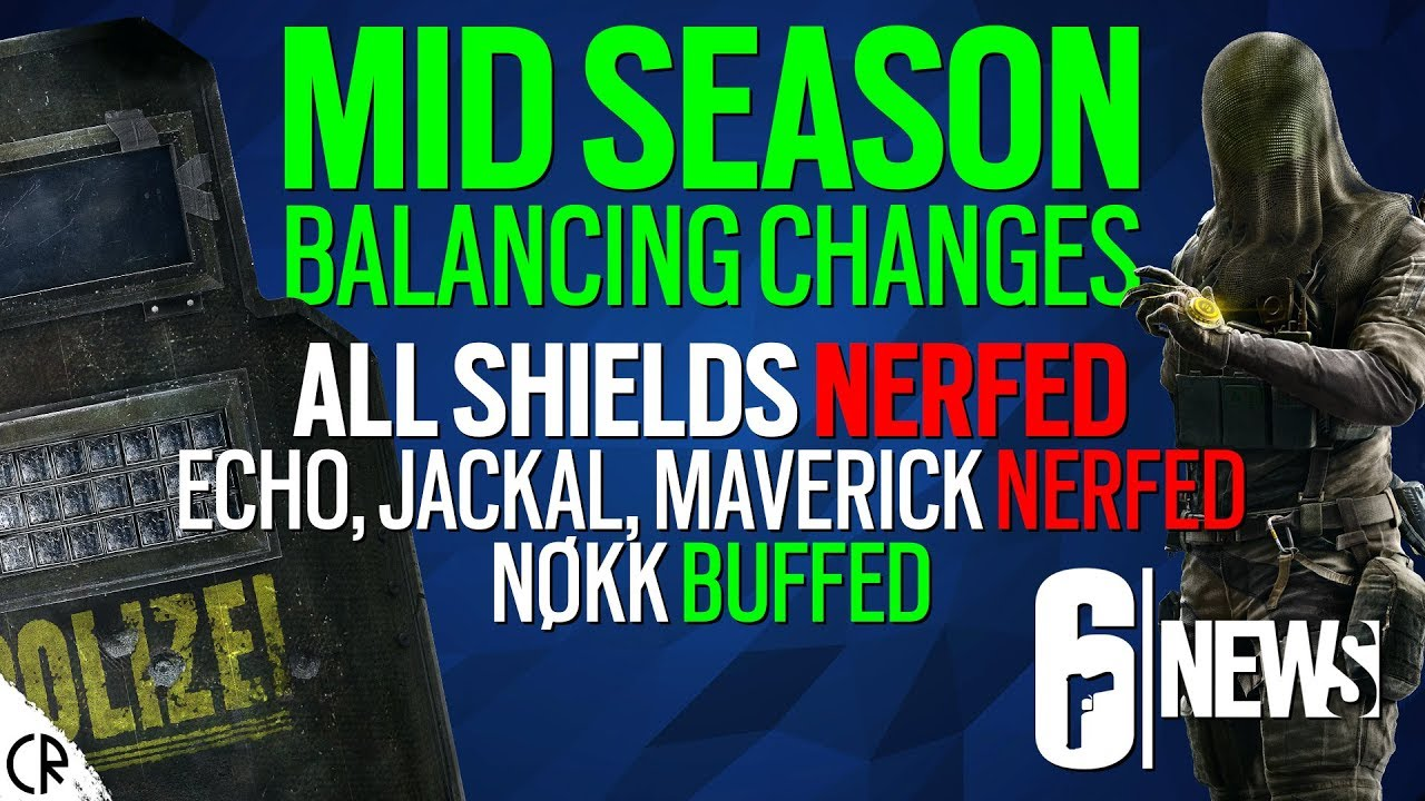 Balancing Changes, Shields Nerfed Mid Season Test Server 1 - 6News - Tom  Clancy's Rainbow Six Siege