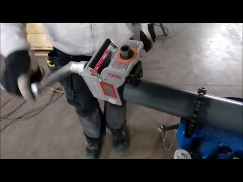 First Test: Manual Roll Grooving Machine TWG-11A