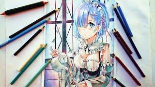 Speed Drawing - Rem ( Re: Zero Kara Hajimeru Isekai Seikatsu )