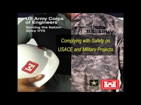 Complying with USACE US Army Corps of Engineers 24 Hour Competent Person Fall Prevention & Protectio