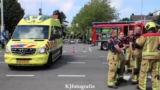 Twee gewonden en auto in de sloot bij fikse aanrijding Rozenplein Wassenaar