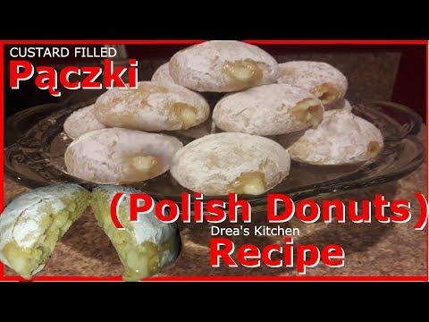 Pączki Donut Custard Filled Doughnuts Recipe