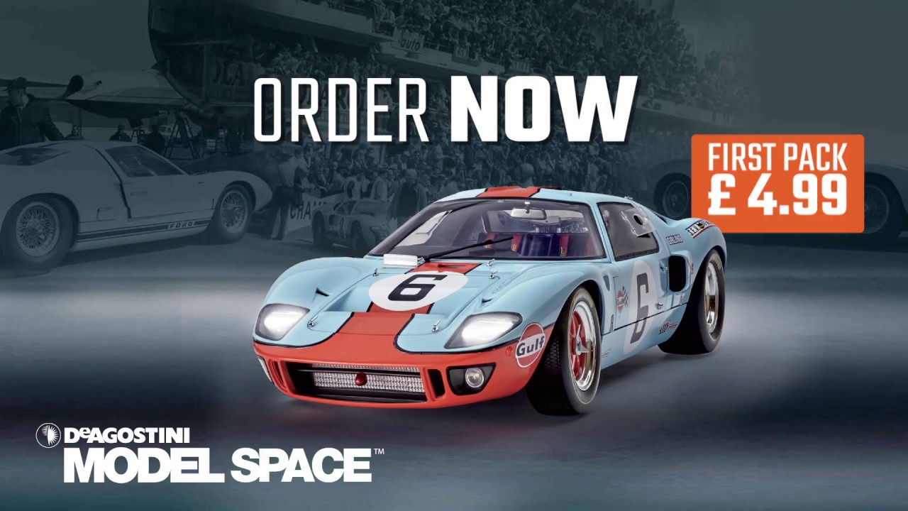 Build your own Ford GT model, scale 1:8 - YouTube