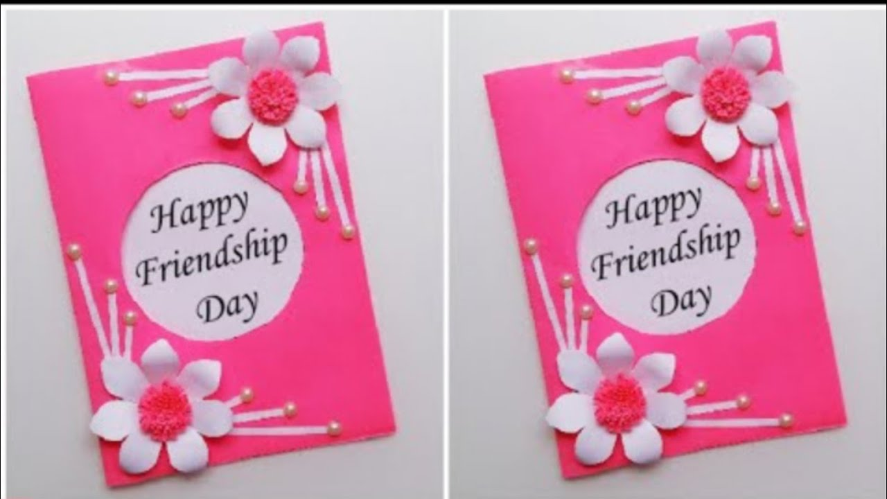easy and beautiful friendship day card very easy method