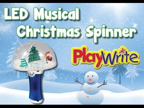 LED Musical Christmas Snow Dome Spinner
