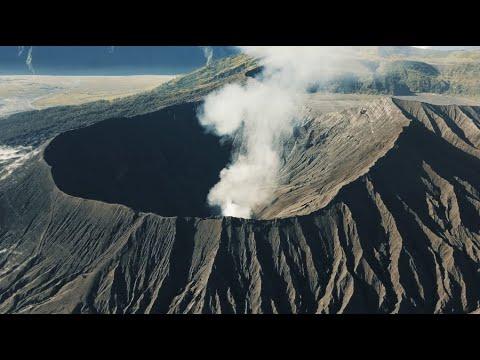 ACTIVE VOLCANO ERUPTION IN EAST JAVA, INDONESIA - Mount Bromo