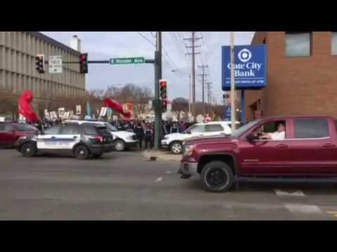 Protesters on Third Street