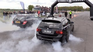 MERCEDES-AMG vs BMW M  - BRUTAL SOUNDS!