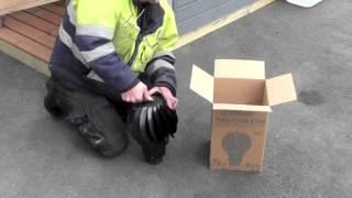 видео Как правильно выполнить монтаж радиального вентилятора