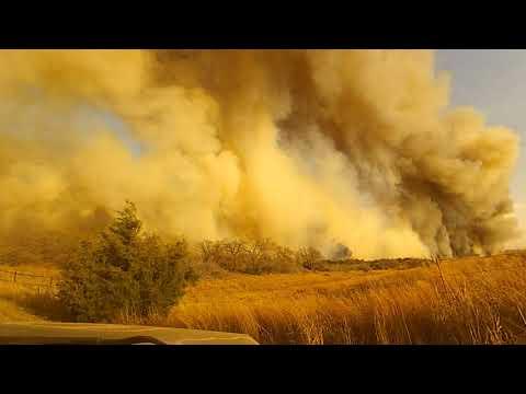 Camargo, Oklahoma wild fire, April 17, 2018
