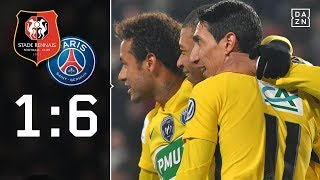 Rennes chancenlos gegen Paris Saint-Germain: Rennes - PSG 1:6 | Highlights | Coupe de France | DAZN