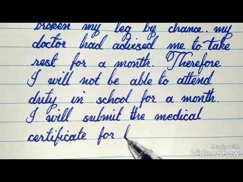 Application For Medical Leave