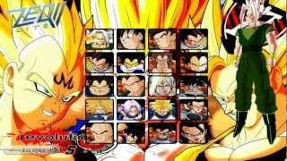 ★DBZ ZEQ2 Lite Revolution 5 Gameplay  Characters Select Screen 1080P HD|Whoolist™ Video Games