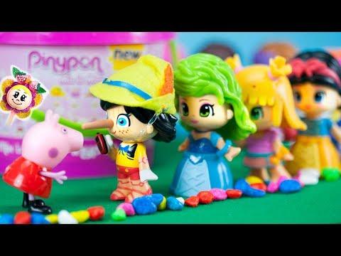 PEPPA PIG ECHANGE LES CHEVELURES DES MILLIERS DE PINYPONS! Pinocchio et les princesses schangent!
