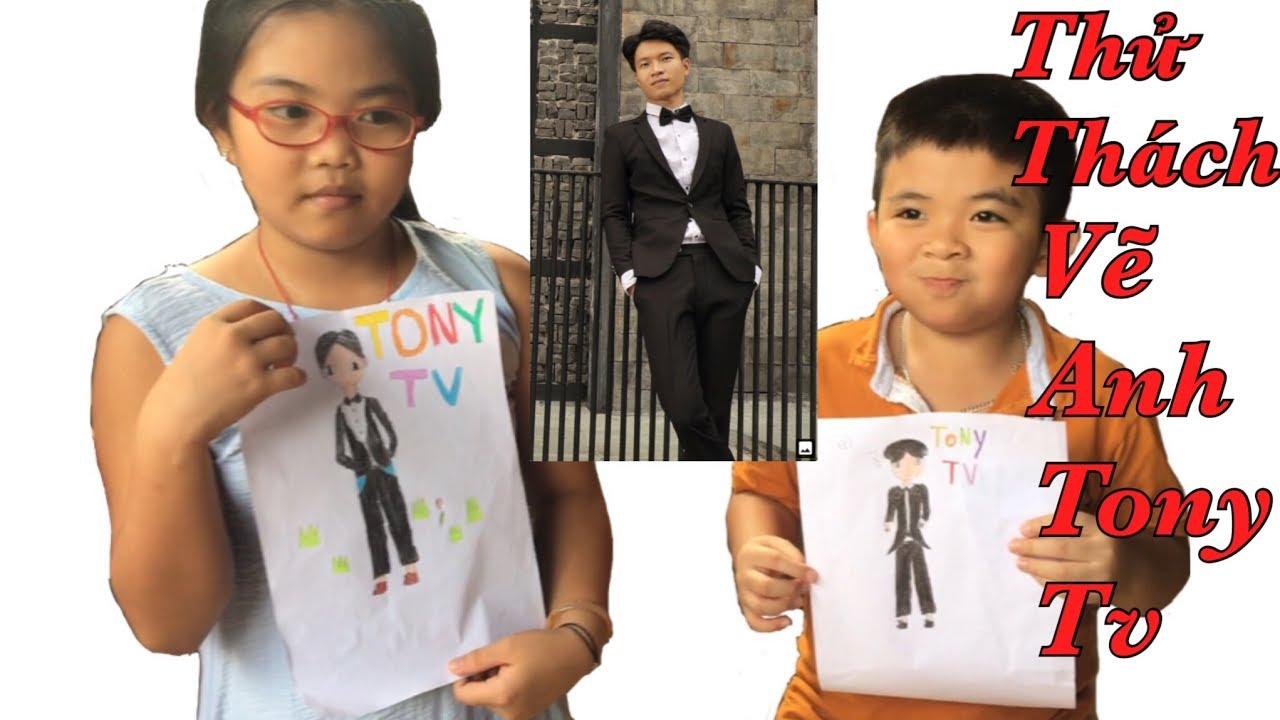 Cuộc Thi Thử Thách Vẽ Thần Tượng TONY TV | Tùng Vlogs