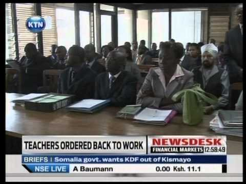 Industrial Court orders Teachers back to class