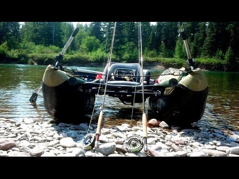 Inflatable pontoon boat fly fishing youtube for Fly fishing pontoon