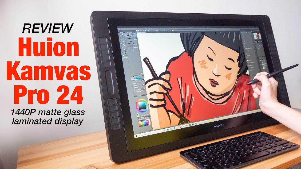 Review: Huion Kamvas Pro 24 pen display - YouTube